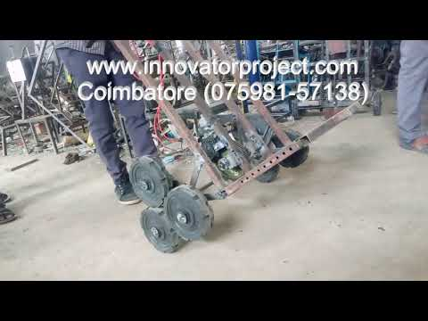 Motorized stair climbing trolley project / design and fabrication of stair  climbing trolley pdf