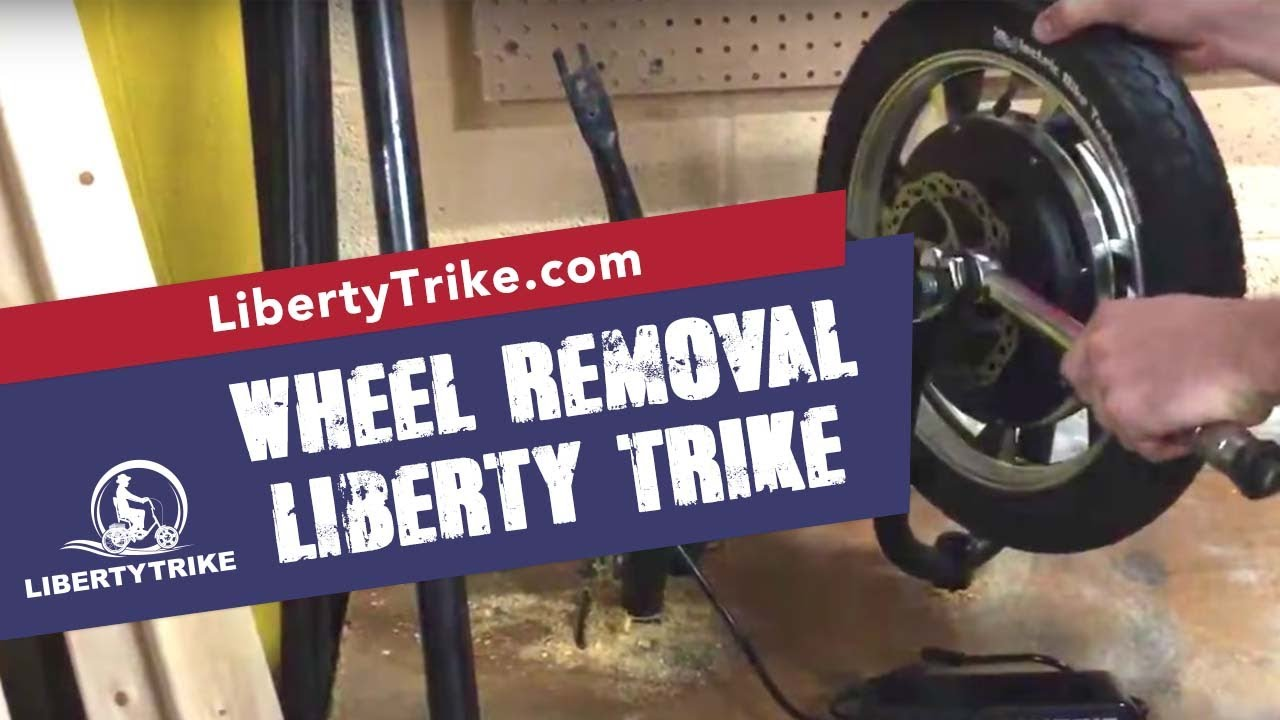 Liberty Trike   remove and install the front wheel
