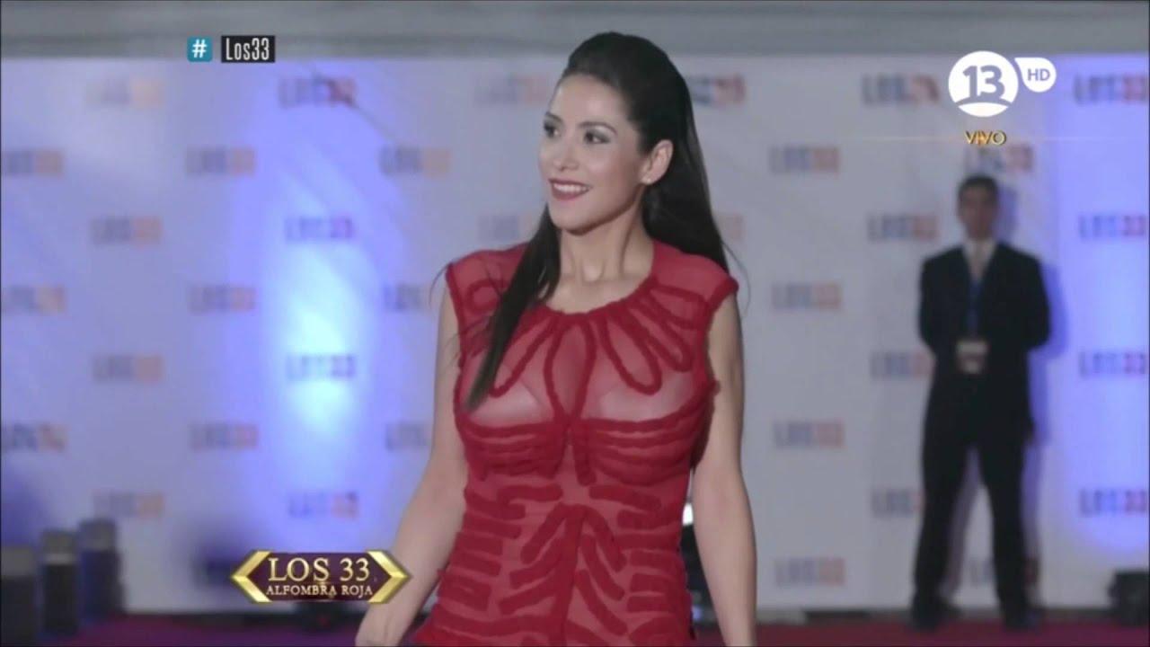 Loreto Aravena - Alfombra roja los 33 - YouTube
