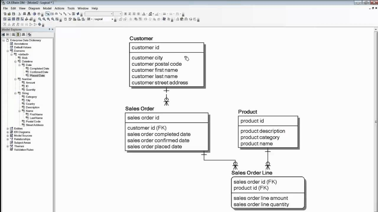 how to make an er diagram for database 7 wire cdi box wiring ca erwin data modeler: soup nuts demo - youtube
