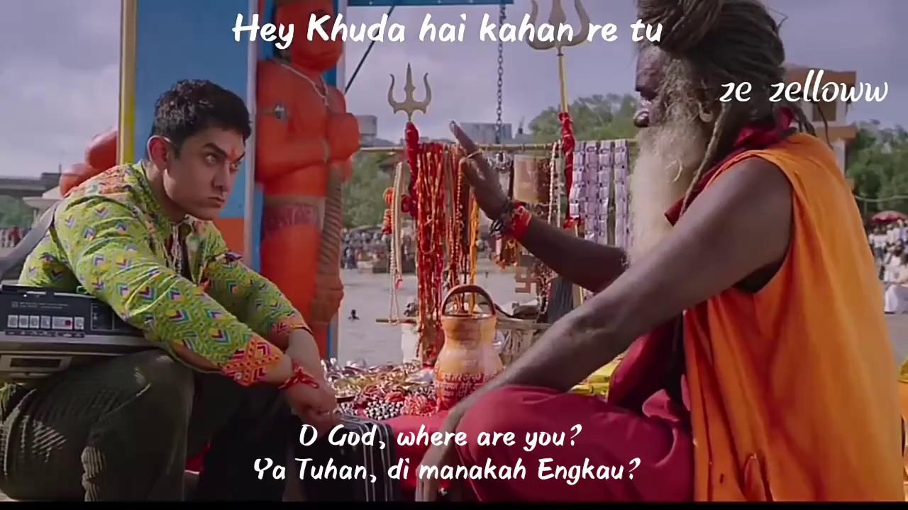 Download Bhagwan Hai Kahan Re Tu, PK OST with lyrics + Eng sub + Ind sub