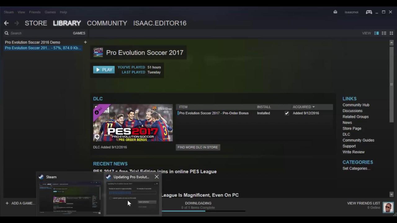 Steam game stuck updating