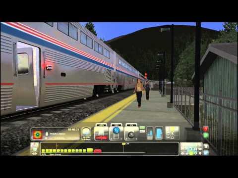 Train Simulator 2014 HD: Amtrak GE Genesis P42DC Empire Builder Marias Pass Action Preview