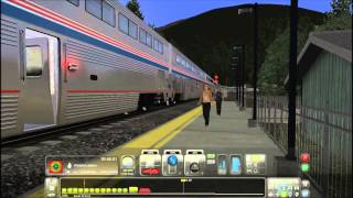 Train Simulator 2014 HD: Amtrak GE Genesis P42DC Empire Builder Marias Pass Action Preview