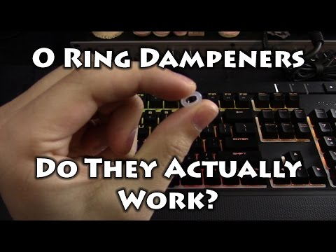 O Ring Dampeners for Mechanical Keyboards: Installation and Tests