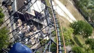 Американские горки(Этим летом был в С.Ш.А.!Ролик сделал в парке атракционов