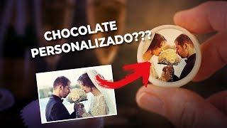 Chocolate personalizado DO SEU JEITO!!! Transfer da Fotobolo