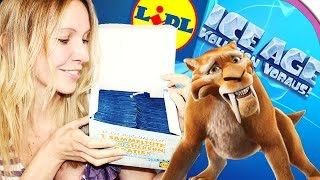 ICE AGE 5 Kollision voraus! Unboxing LIDL Sticker | 10 Booster Opening