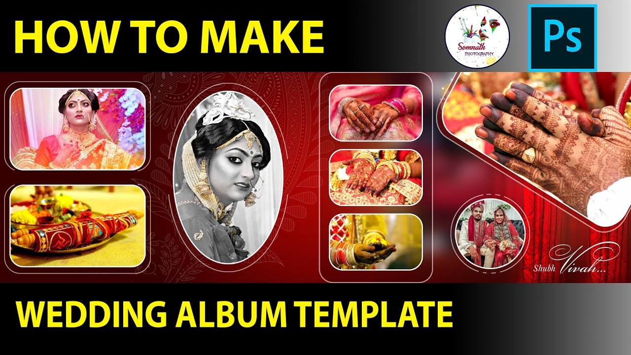 Download How To Create Wedding Album Template Design In Photoshop By Somnath Photography