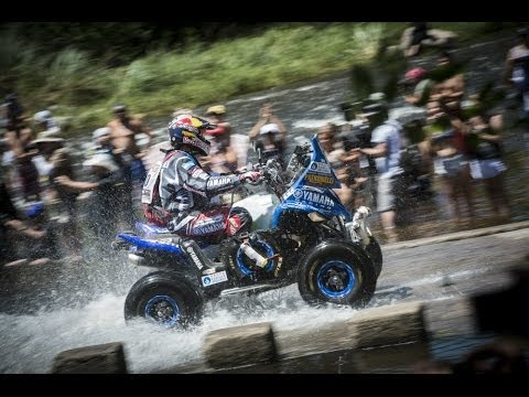 Marcos Patronelli drives into the first stage of Dakar Rally 2014