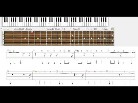 hindi song pehli nazar mein - beginner- lead tune guitar tabs - YouTube
