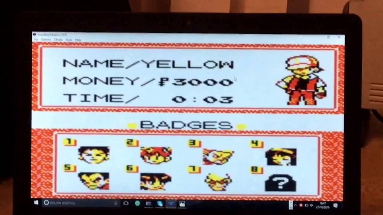<b>Pokémon Yellow Cheat Codes</b> #1 - YouTube