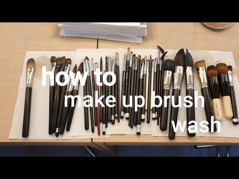 how to make-up brush washTIP👍Shu Uemura Brush Cleaner