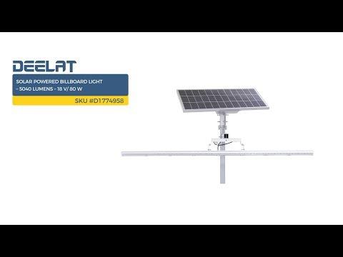 Solar Powered Billboard Light – 5040 Lumens – 18 V/ 80 W     SKU #D1774958