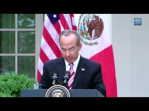 President Obama and President Calderón Press Availability