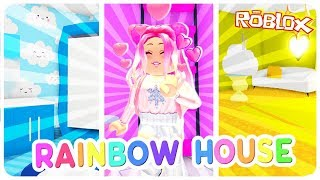 I Tried The RAINBOW HOUSE Challenge in Roblox Adopt Me.. Roblox Adopt Me Build Challenge