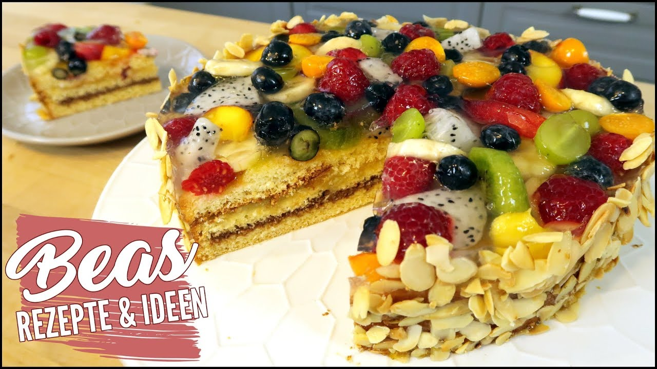 obsttorte rezept f r eine sommertraum torte mit fr chten marzipan und nougat backen youtube. Black Bedroom Furniture Sets. Home Design Ideas