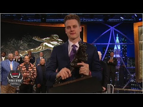 Joe Burrow wins the 2019 Heisman Trophy  College Football on ESPN