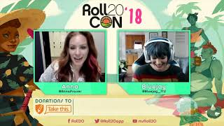 Roll20Con2018: Bluejay & Anna Prosser Interview