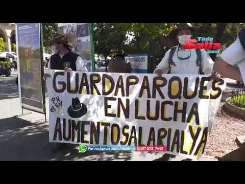 guardaparques manifestacion