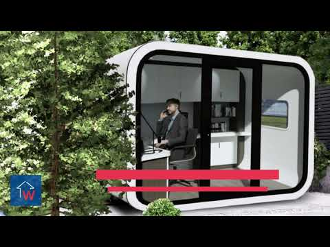 Working from home. Reinvented – Introducing the luxury garden office pod from WAH Solutions