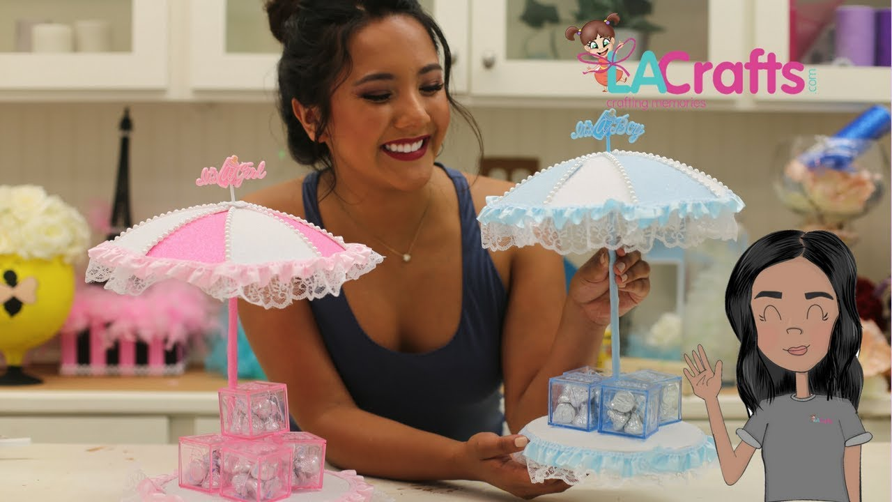 1ab611346 Idea De Centro de Mesa para Baby Shower-BSC004-2018 - YouTube