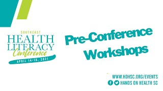 Pre-Conference Workshops Day 1: April 14, 2021