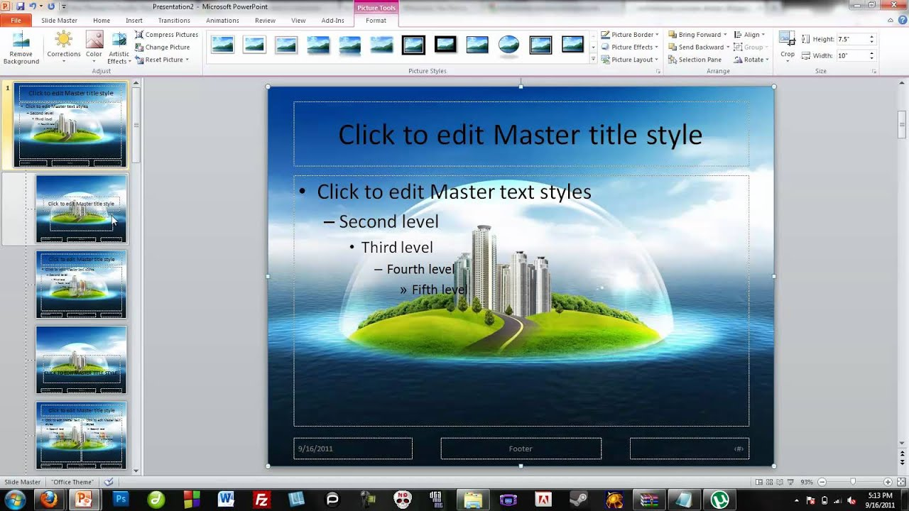 how to make your own powerpoint themes - youtube, Modern powerpoint