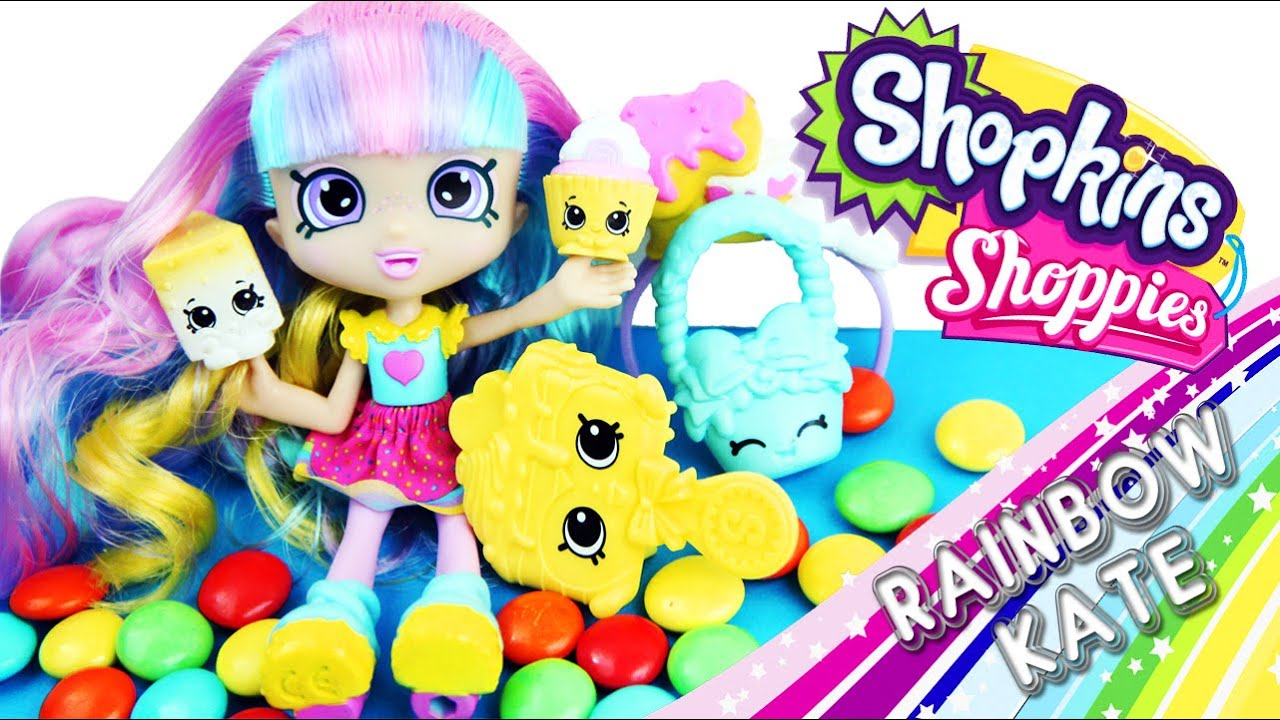 Shopkins Shoppies Rainbow Kate Doll Unboxing Review - Toy ...