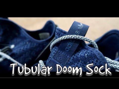 adidas originali tubulare doom sock pk traccia blu unboxing!su youtube