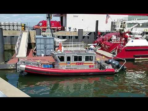 "FDNY Marine Operations Marine 9 ""Firefighter II"" In Staten Island, New York"