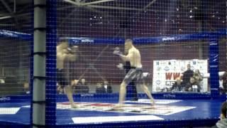 Самый быстрый бой! Технический нокаут. Максим Рябовол. MMA турнир серии Road to WWFC