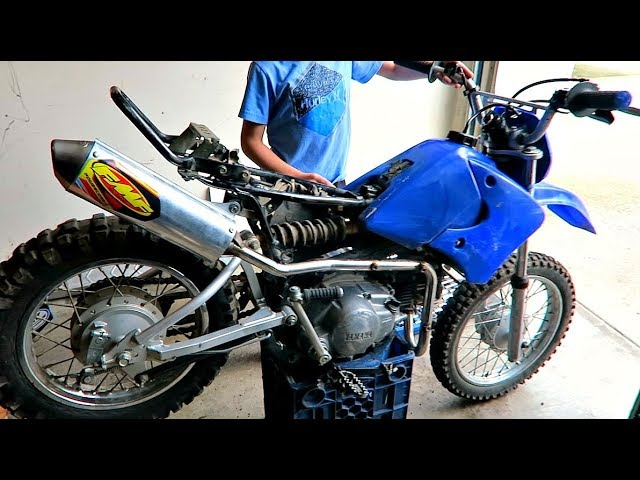 fmf vs stock pipe sound on a ttr youtube