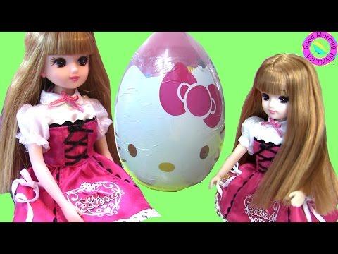 💓Cuộc Sống Barbie & Ken ( Tập 35 ) Licca Chan Thăm Nhà Barbie 💓Tặng Quà Trứng Hello Kitty