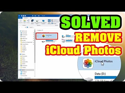 [Solved] How to remove Icloud Photos folder from PC