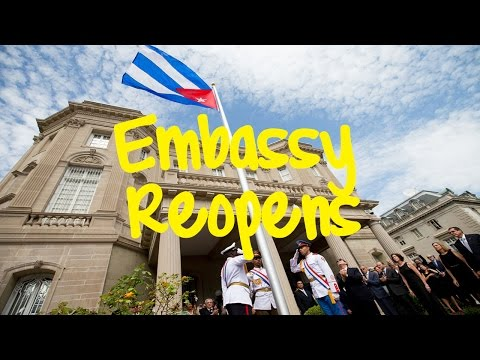 Cuban Flag Raised at Embassy in Washington, DC + Cuban Foreign Minister Bruno Rodriguez Remarks