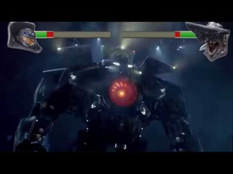 Pacific Rim Gipsy Danger Vs Leatherback With Health Bars