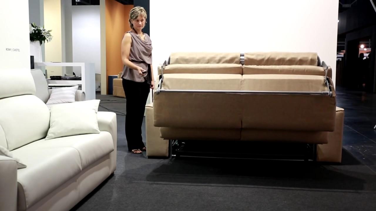 chez soi design canap lit lectrique youtube. Black Bedroom Furniture Sets. Home Design Ideas