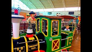 Indoor Playground Family Fun for Kids / Mini Train Toy Ride / Nursery Rhymes / Videos For Childrens