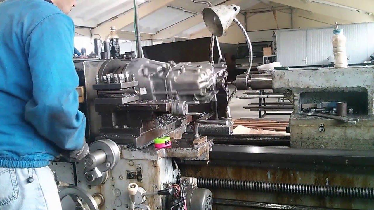 Cutting BMW ZF 530d tranny to match 2JZ engine