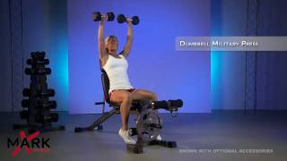XMark FID Bench with Arm Curl and Leg - XM-4418 - Beach Body Exercises