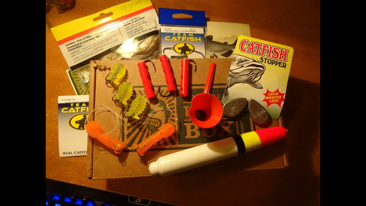Mystery tackle box catfish unboxing february 2016 for Monthly fishing box