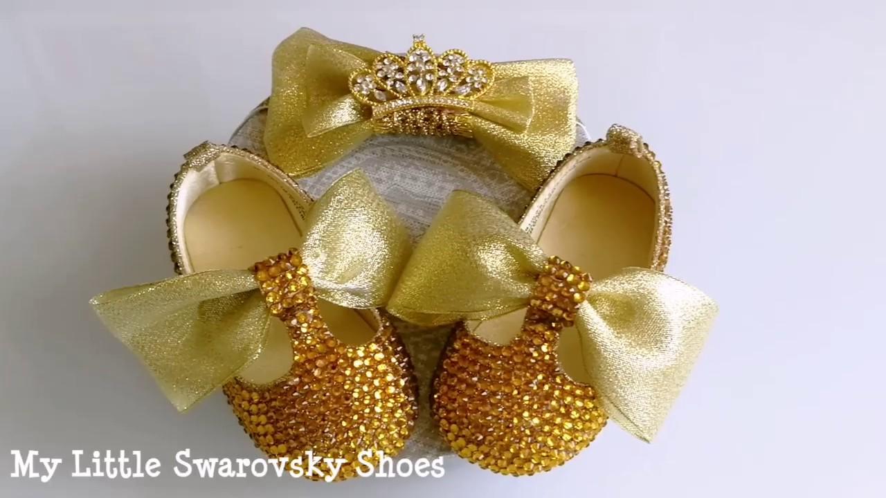 cde87ee49 Zapatos bebé niña cristales Swarovski