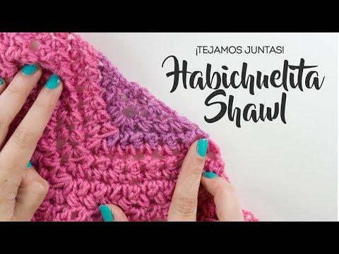 Chal habichuelita - Chal a crochet FÁCIL - Patrón gratis - YouTube