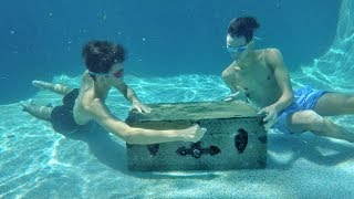WE FOUND A SECRET TREASURE BOX IN OUR SWIMMING POOL!