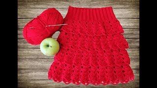 Ажурная юбочка, вязание крючком для начинающих, Crochet.