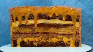 Новый ПП торт СНИКЕРС! Низкокалорийный! Правильное питание! ПП рецепты БЕЗ САХАРА