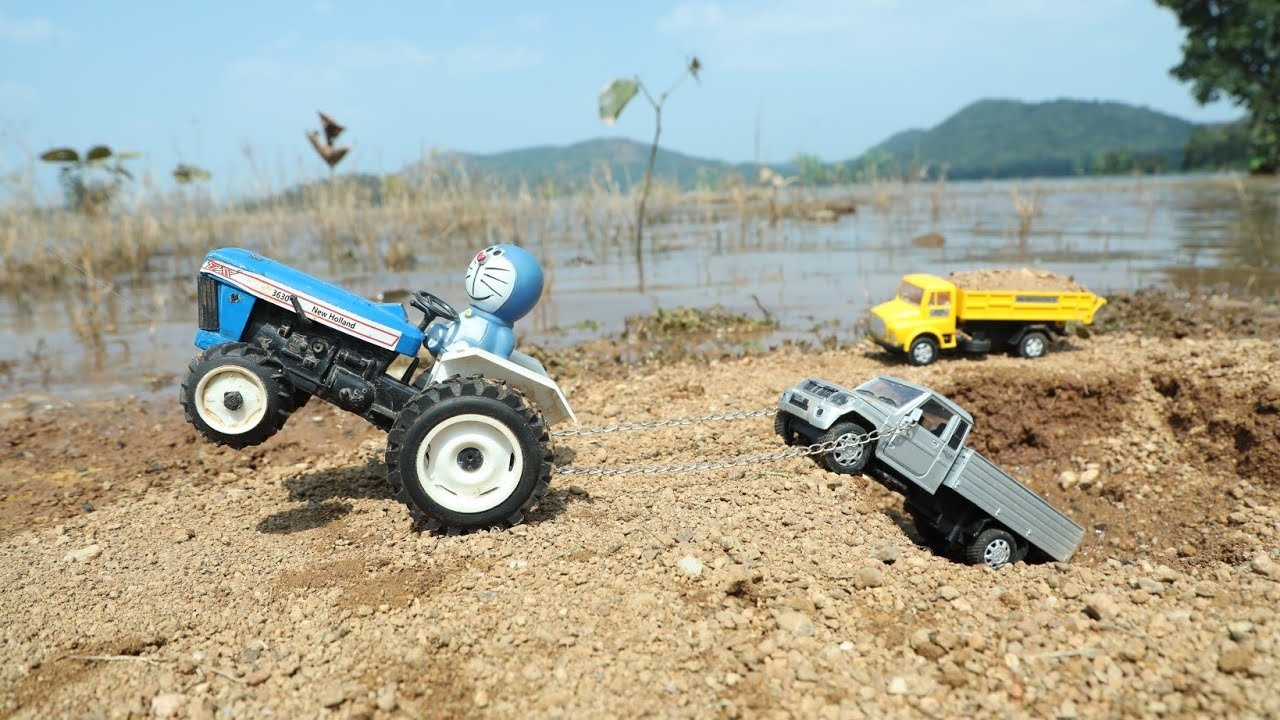 Bolero Pickup Accident? Pit Pulling Out New Holland 3630 | HMT Tractor | Mini Dump Truck | CS Toy