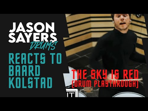 Drummer Reacts to - Baard Kolstad of Leprous - The Sky Is Red Drum Playthrough