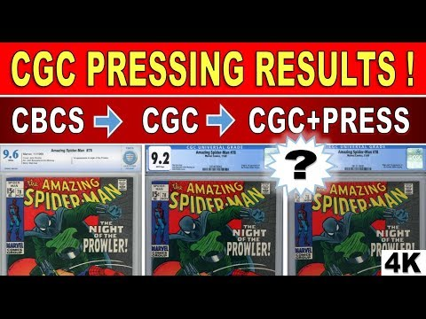 CGC Pressing Results and Regrading - Comic Book Pressing Review - 4K